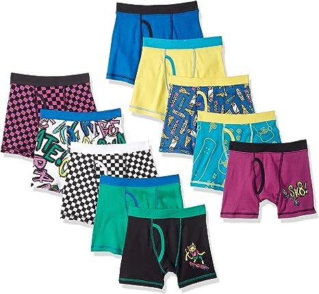 Spotted Zebra Boys Little Kid 10-Pack Brief Underwear X-Small 4-5 Brand Animal Sports