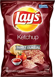 product image for Canadian Lays Potato Chips, Ketchup, Large Family size - 3 Pack
