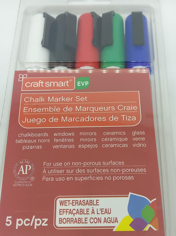 Amazon.com: Craft Smart Chalk Marker 5 pc set, Red, White ...