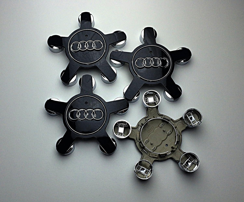 oem ao 4F0601165N , 4F0 601 165 N Set Of 4 All Black 134Mm Alloy Wheel Center Centre Caps