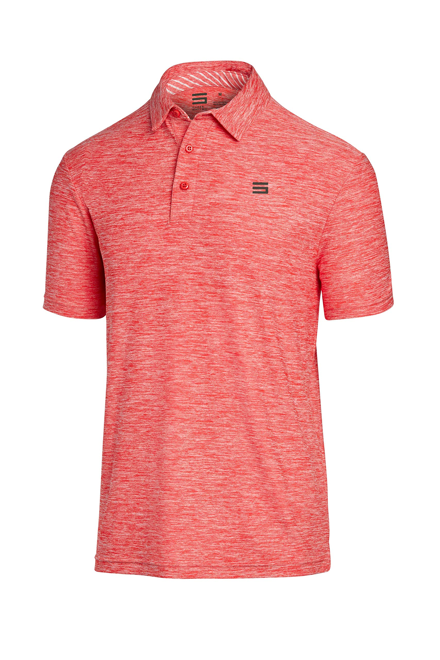 Three Sixty Six Golf Shirts for Men - Dry Fit Short-Sleeve Polo, Athletic Casual Collared T-Shirt by Three Sixty Six