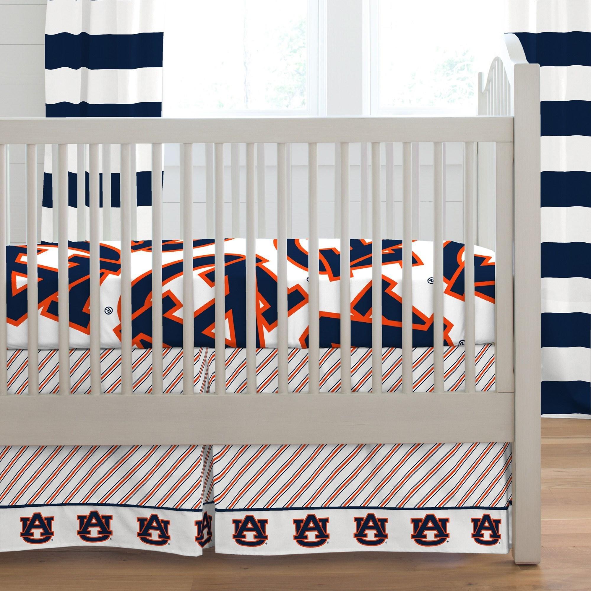 Carousel Designs Auburn Crib Skirt Box Pleat 20-Inch Length