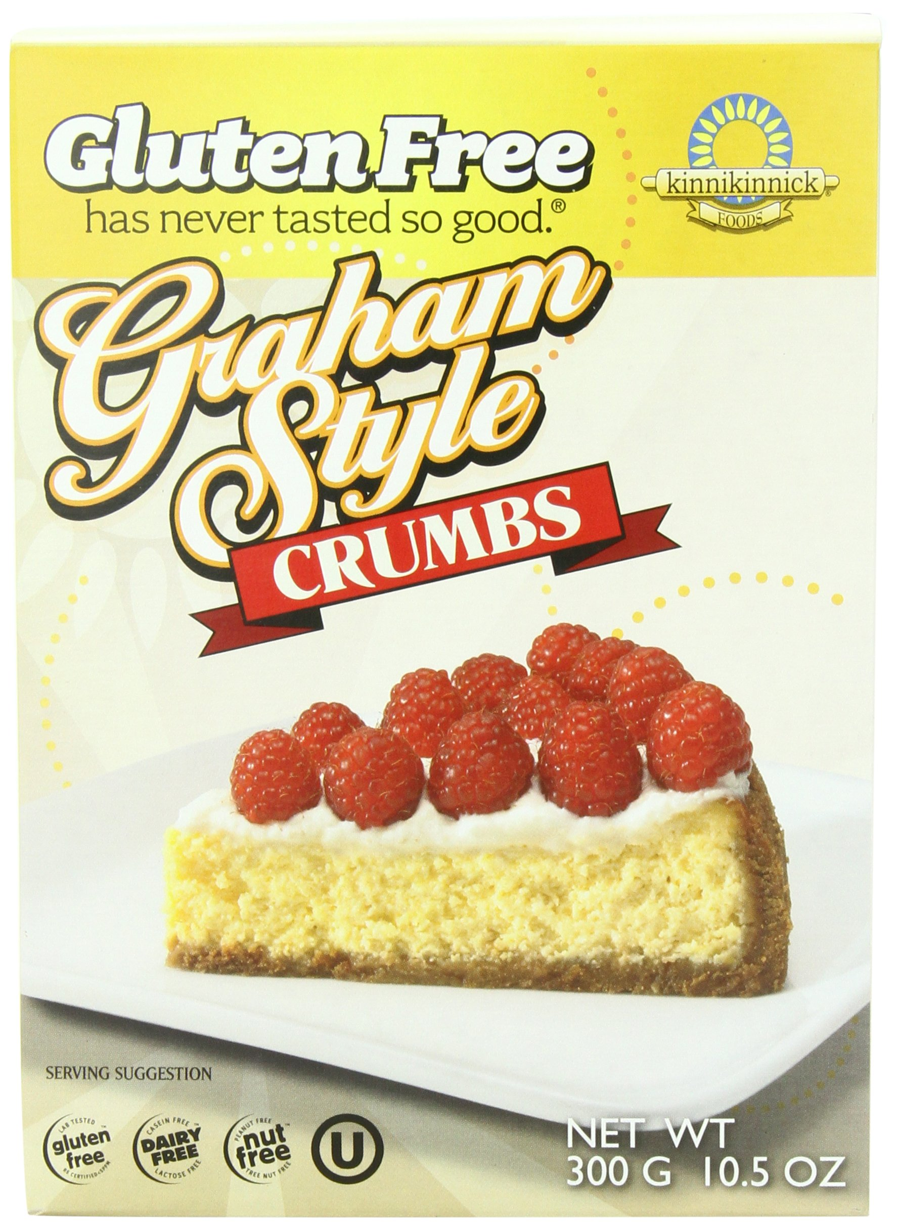 Kinnikinnick Crumbs - Graham Style Gluten Free, 10.5-Ounce (Pack of 3) by Kinnikinnick