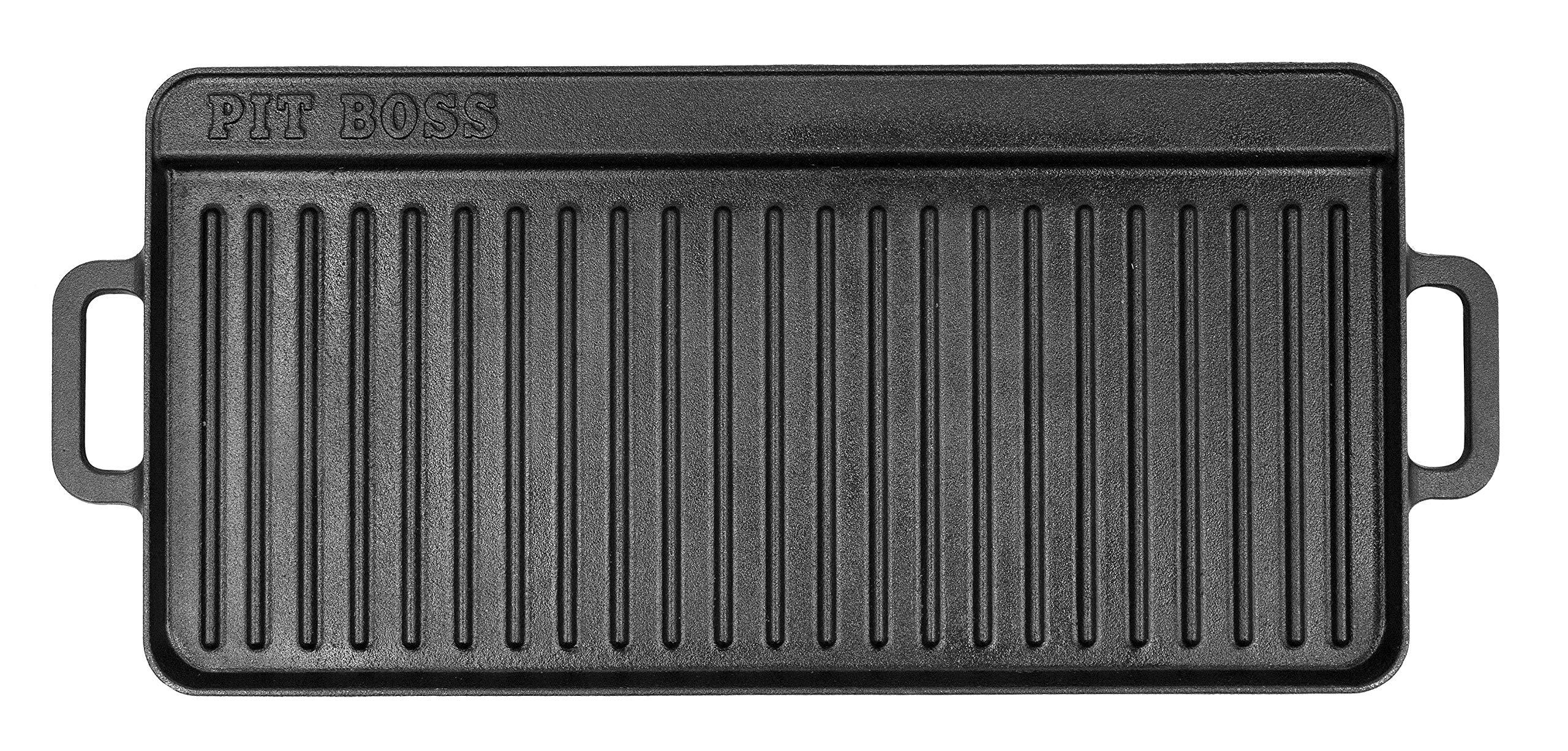 PIT BOSS 68008 14'' x 28'' Cast Iron Griddle, Black by PIT BOSS