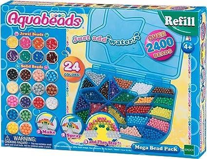 Aquabeads-79638 Mega Bead Pack, multicolor (Epoch para Imaginar 79638) , color/modelo surtido: Amazon.es: Juguetes y juegos