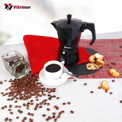 Cafetera italiana 12 tazas negro vitrinor: Amazon.es: Hogar