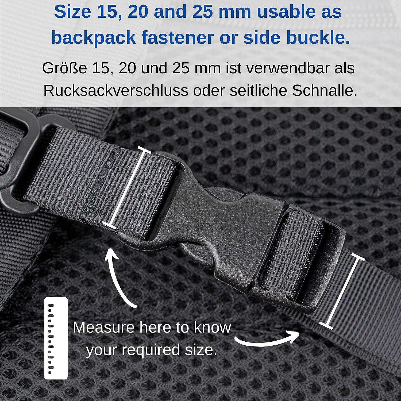 """5//8/"""" de large profilée Side Release Boucle en Plastique pour Chien Col-Neuf 15 mm"""