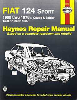 Haynes Repair Manuals 34010 Fiat 124 Sport/Spider 68-78