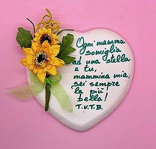 Idea Regalo per La Festa della Mamma 12/5/19- LIMITED EDITION Idea Regalo, Regala il tuo cuore alla Mamma, Personalizzabile.