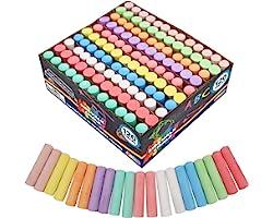 Joyin 120 Pack Giant Box Non-toxic Jumbo Washable Sidewalk Chalk Set in 10 Colors (120 Pieces)