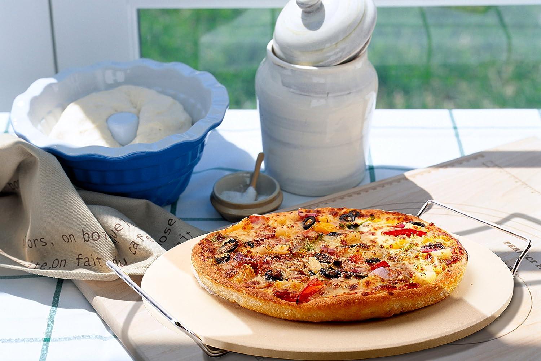 GA Homefavor Base de Piedra de Cordierita para Pizzas con Asas ...