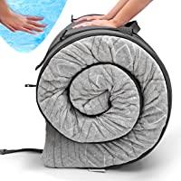 "Zermätte Roll Up Travel Mattress | Portable Foldable 3"" Gel Infused Memory Foam Sleeping Pad, Camping Floor Mat & Bed…"