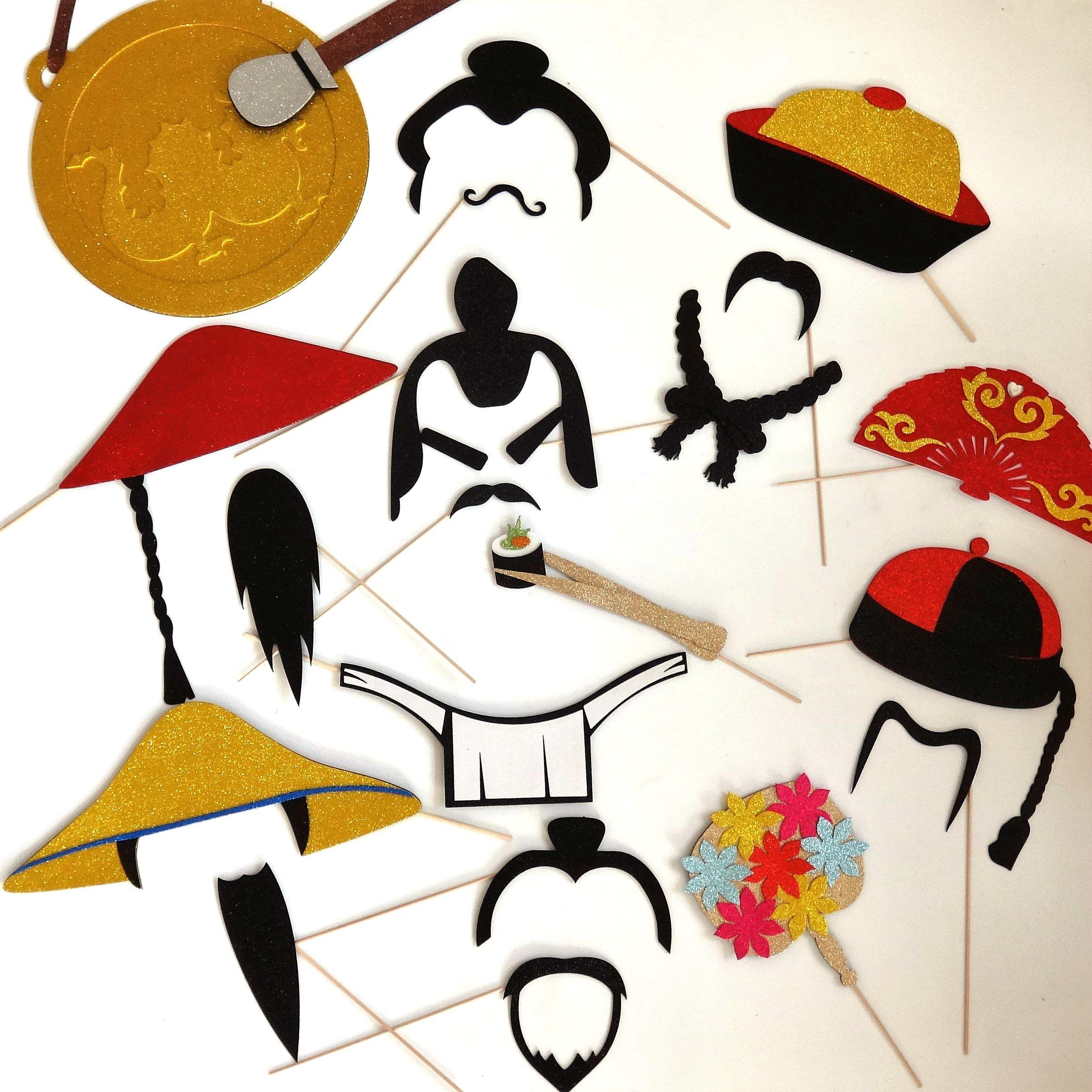 Oriental Photo Booth Props Samurai war fare by picwrap