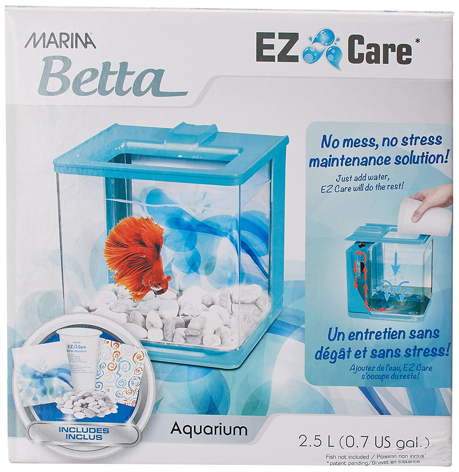 Marina Aquarium pour Aquariophilie Betta EZ Care Blanc 13357