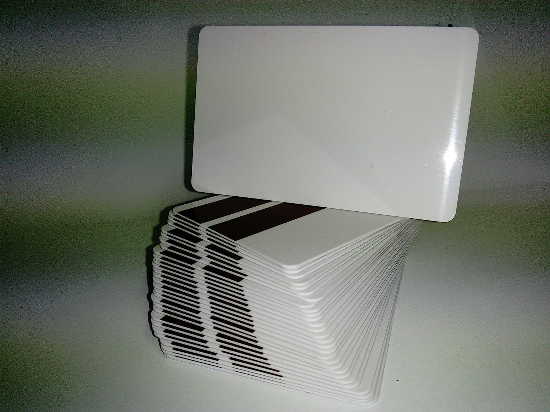 Pack 100 - Tarjeta PVC Blanca con Banda magnetica LO - CO ...