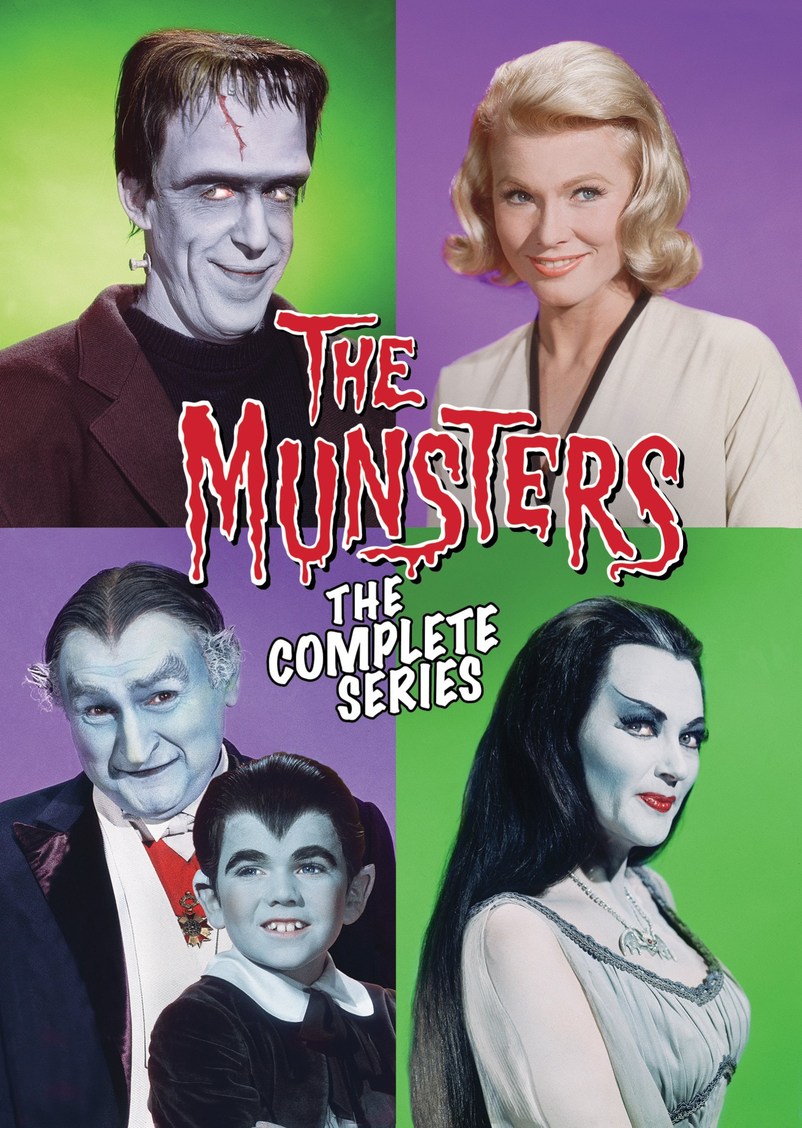 DVD : The Munsters: The Complete Series (Boxed Set, Snap Case, Slipsleeve Packaging, Repackaged, 12 Disc)