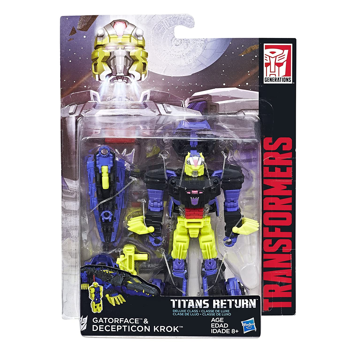 TRANSFORMERS DELUXE CLASS DECEPTION TRIGGERHAPPY /& BLOWPIPE-TITANS RETURN-NIB