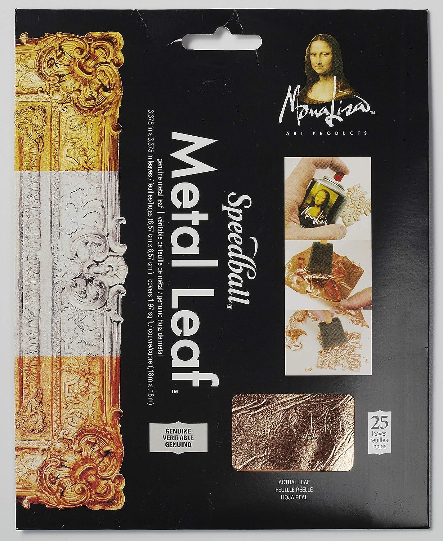 Speedball 10205 Mona Lisa Genuine Copper Leaf, 25 Sheet Pack