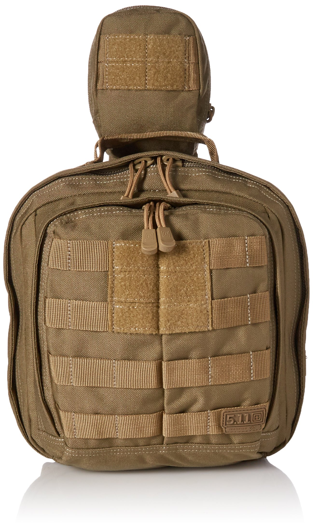 5.11 RUSH MOAB 6 Tactical Sling Pack Military Molle Backpack Bag, Style 56963, Sandstone by 5.11