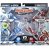 Monsuno Serie 1 - 4 Core Combat Pack with Lock #01, Evo #09, Spikelash #08, Snapclaw #13, 4 Cores and 12 Cards