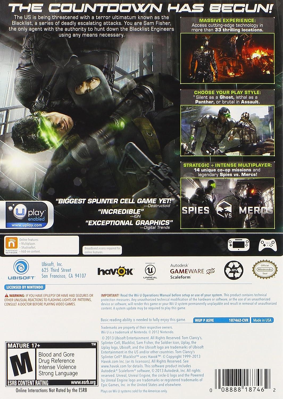 Amazon.com: Tom Clancys Splinter Cell Blacklist - Nintendo ...