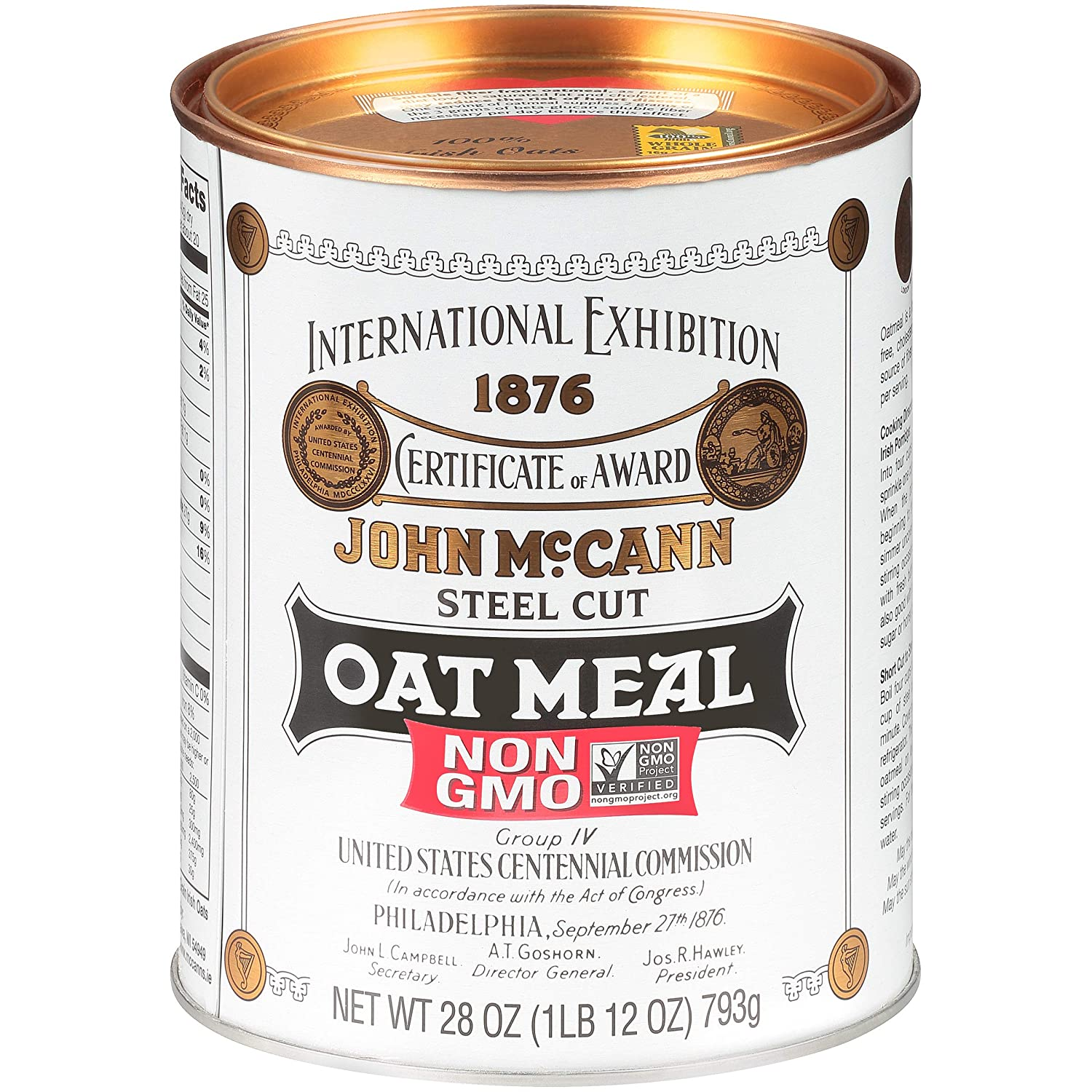 McCann's Irish Oatmeal, Traditional Steel Cut, 28 Ounce, Pack of 4