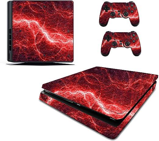 Pegatina eléctrica roja para PS4 Slim / Sony Playstation 4 Slim ...