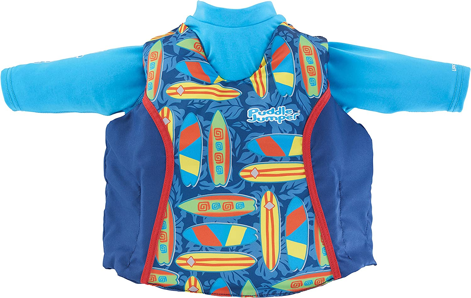 Puddle Jumper Kids 2-in-1 Life Jacket and Rash Guard, Surfboards