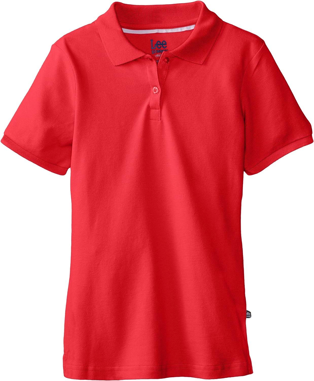 Lee Uniforms Little Girls Short Sleeve Stretch Pique Polo