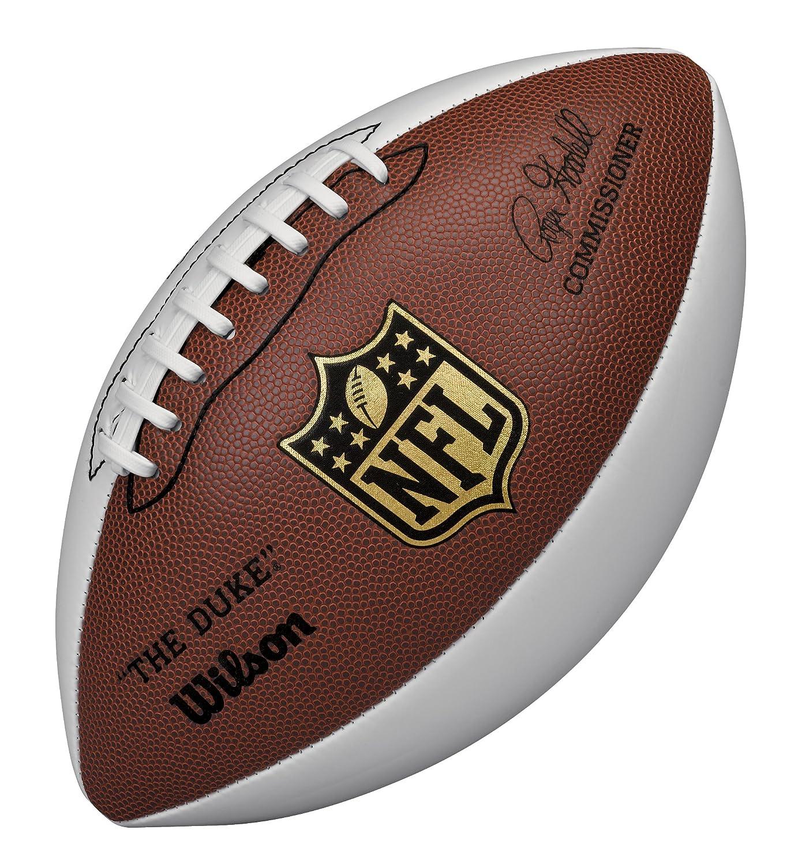 Wilson Ballon de Football Américain, pour Collectionneurs, Taille Officielle, NFL Autograph, Marron/Blanc, WTF1192 WIMQG|#Wilson Team Sport 1014013