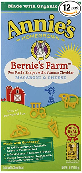Annie's Pasta, Bernie's Farm, 6 Ounce Box (Pack of 12)