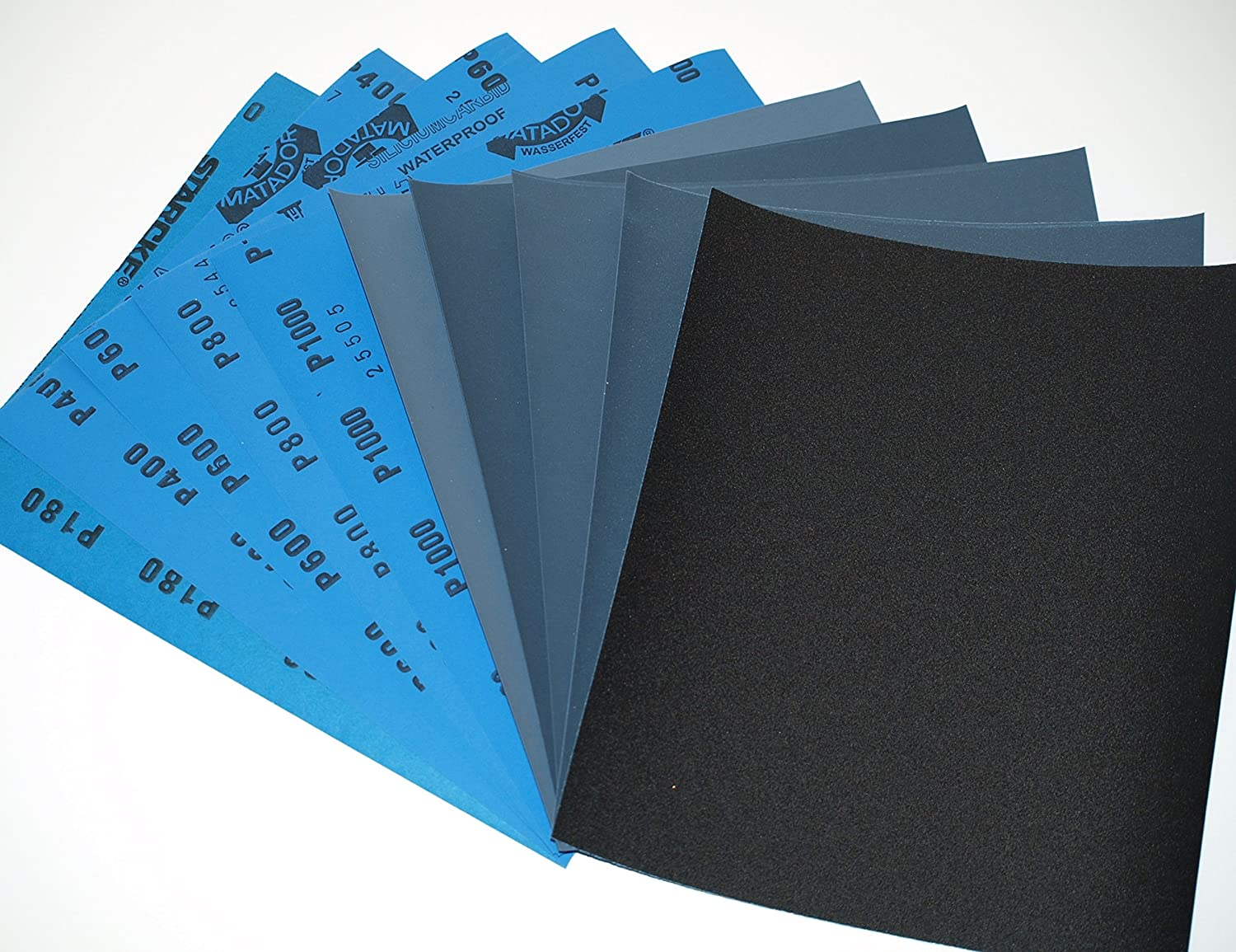 "3M 1000-1200-1500-2000-2500-3000 Wet or Dry Sandpaper 5.5/""x 9/"" 6 boxes//300"