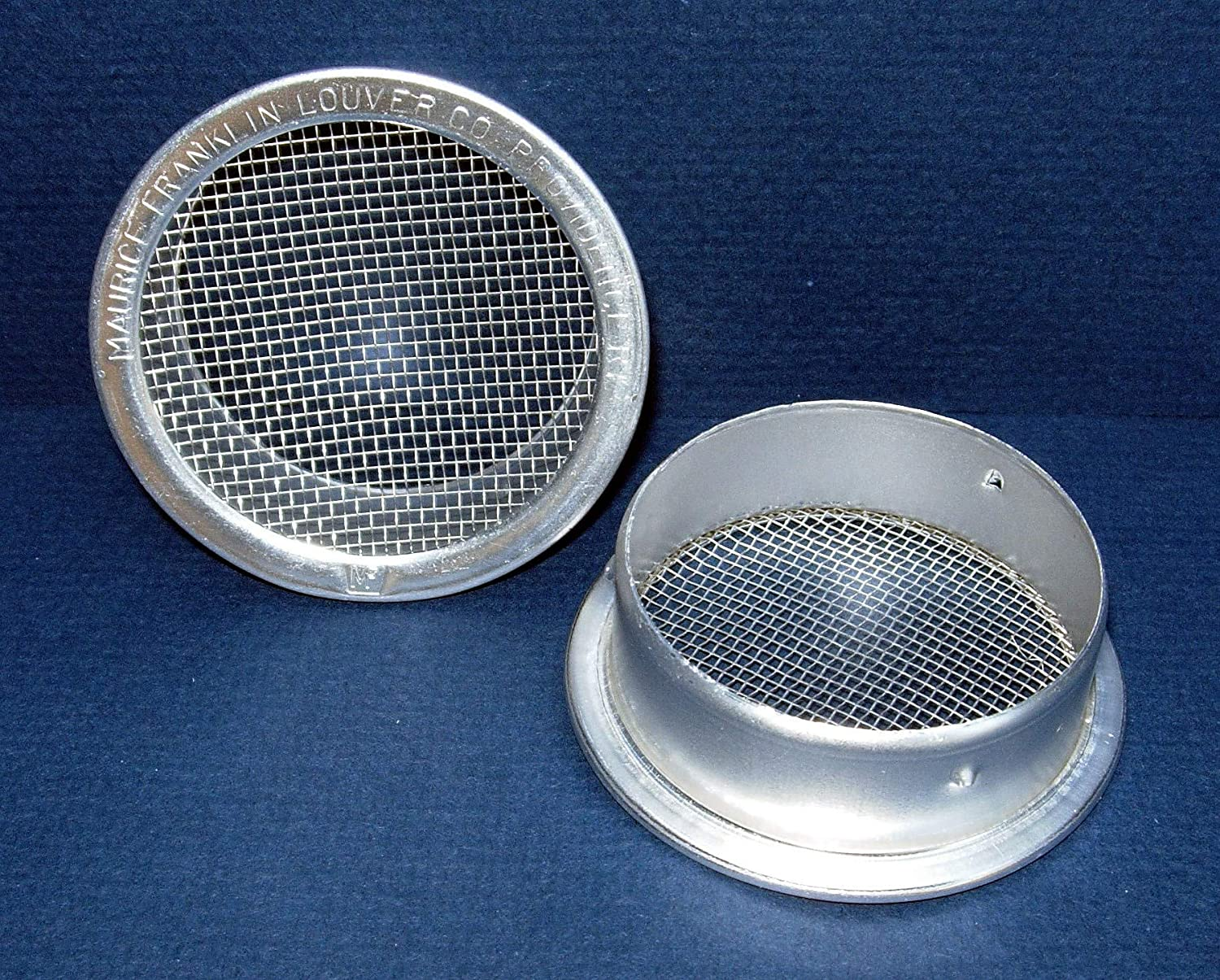 3 Round Open Screen Vent Package of 4 Mill