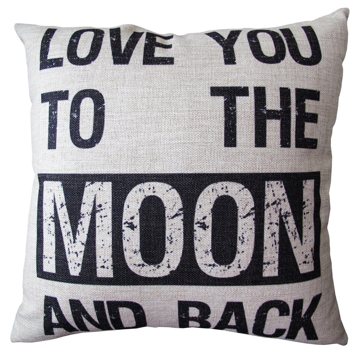 Linen Cloth Pillow Cover Cushion Case, Love You