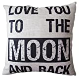Amazon Price History for:CoolDream Decorative 18*18 Inch Linen Cloth Pillow Cover Cushion Case, Love You To The Moon