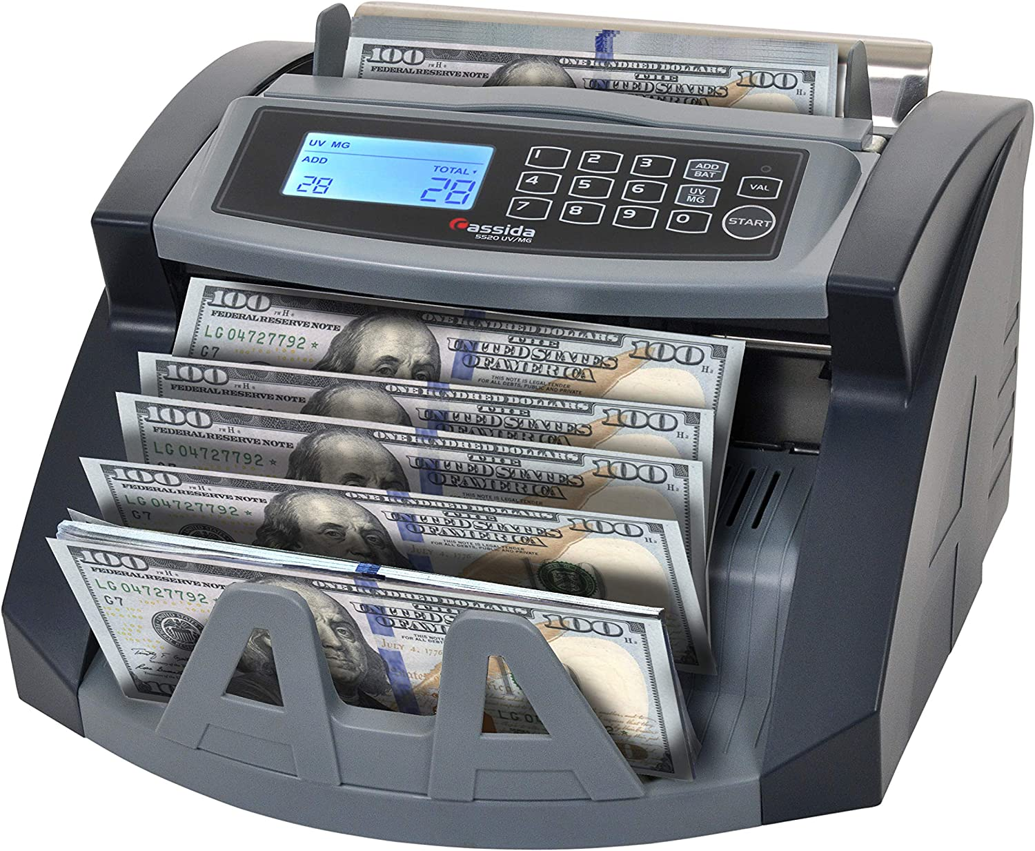 Cassida 30 UV/MG Money Counter with Counterfeit Bill Detection