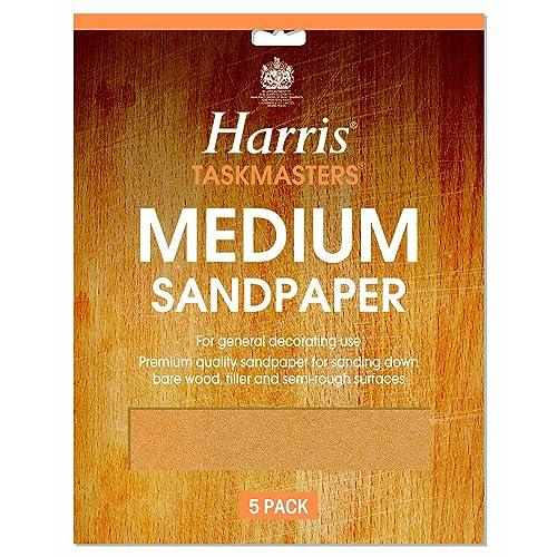 LG Harris Medium Sandpaper Pack of 4
