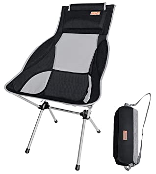 Amazon.com: NiceC - Silla de camping plegable con respaldo ...