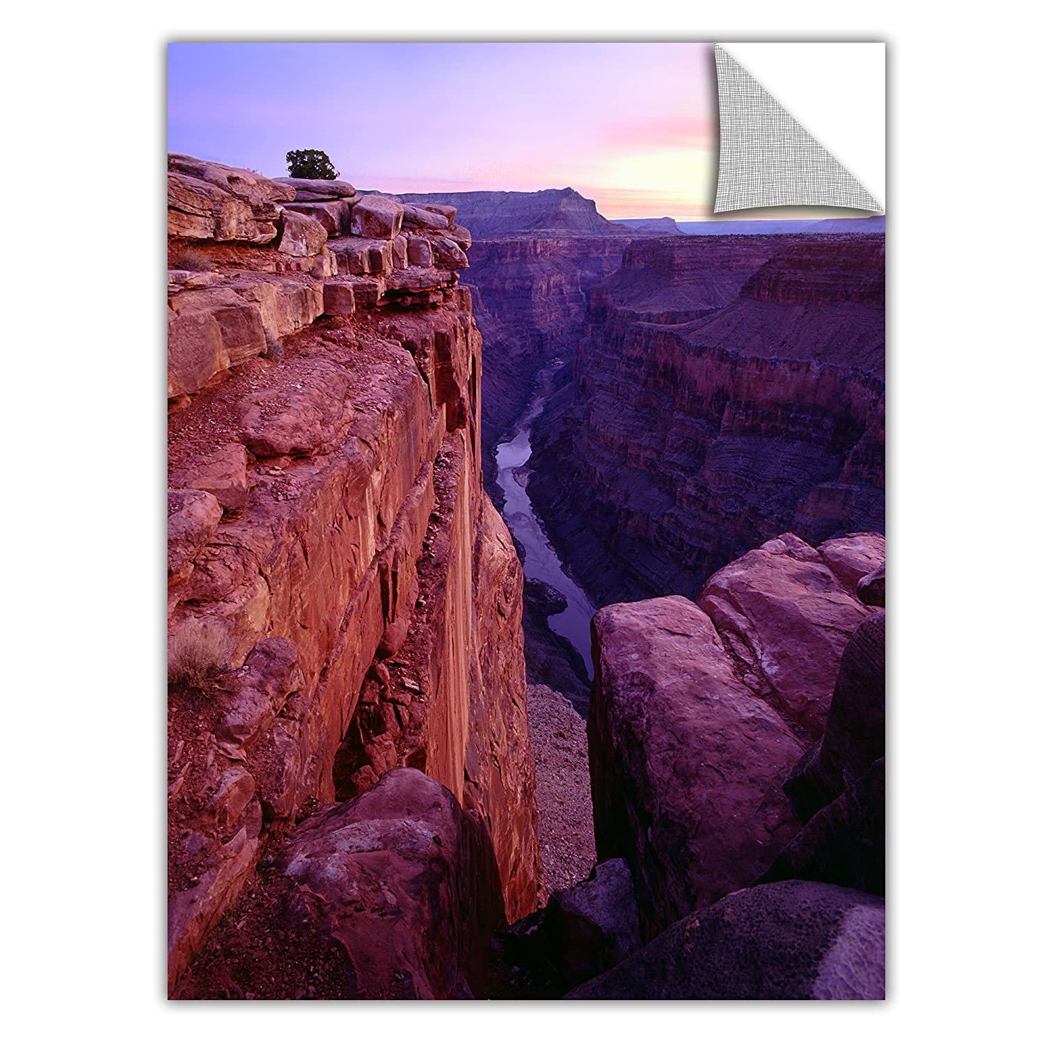 ArtWall Appealz Dean Uhlinger Tuweep Overlook Removable Graphic Wall Art 14 by 18-Inch