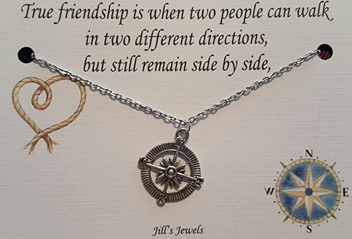 best friend compass necklace best friend long distance gift christmas present - Christmas Present For Best Friend