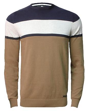 6dde18c129 Threadbare Mens Crew Neck Panelled Sweater Top Pullover Cotton Jumper SORBUS