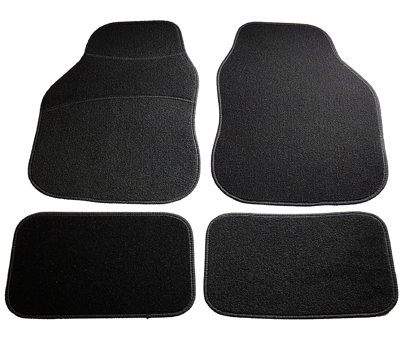 Safe Travel 27600 Universal Car Mats Left Hand Drive Carpet Heel LHD Black Binding