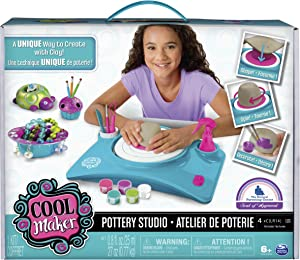 Cool Maker - Pottery Studio, Clay Pottery Wheel Craft Kit for Kids Age 6 and Up (Edition May Vary)