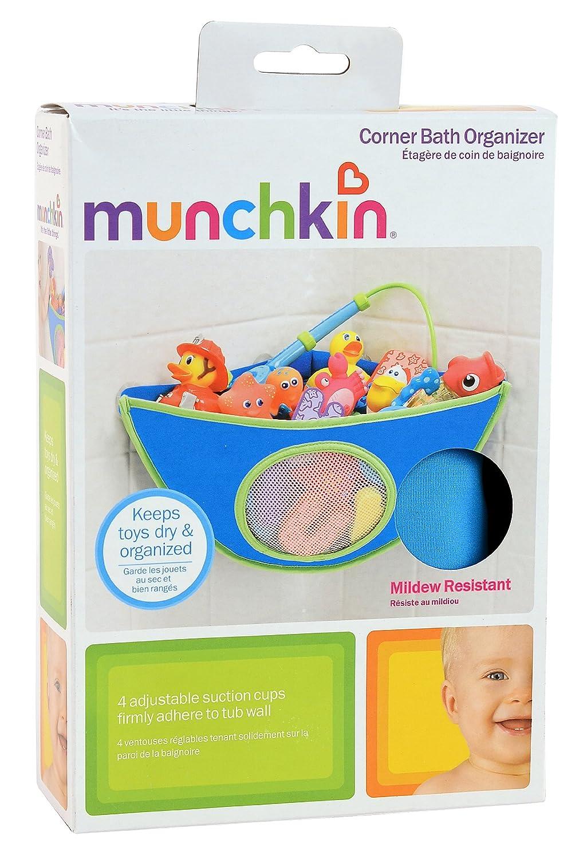 Amazon.com : Munchkin Corner Bath Organizer, Blue : Baby Bathing ...