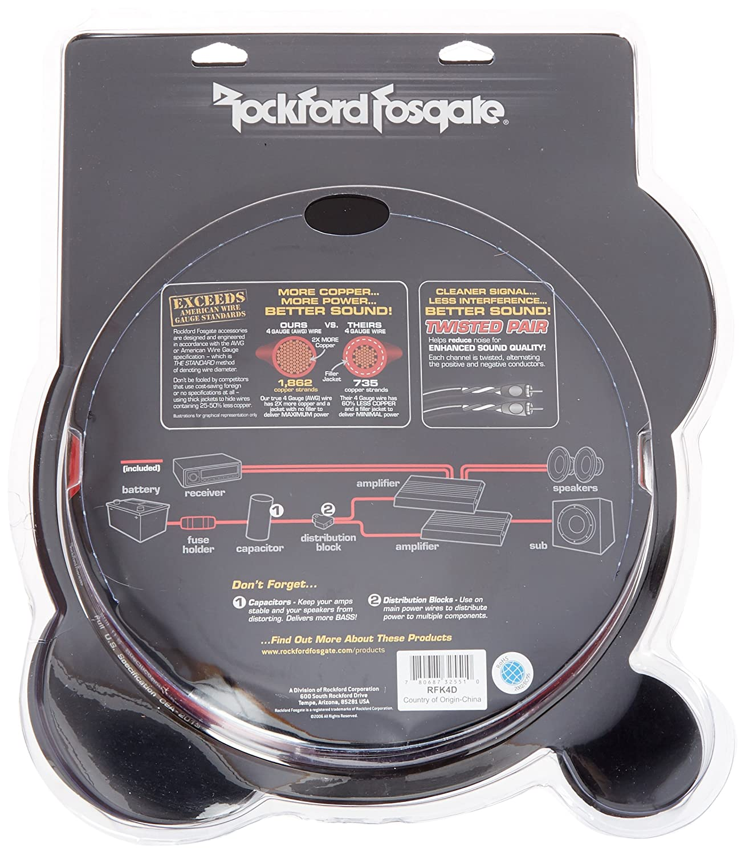 Amazon.com: Rockford Fosgate RFK1D Dual Amp Complete Kit: Car ...