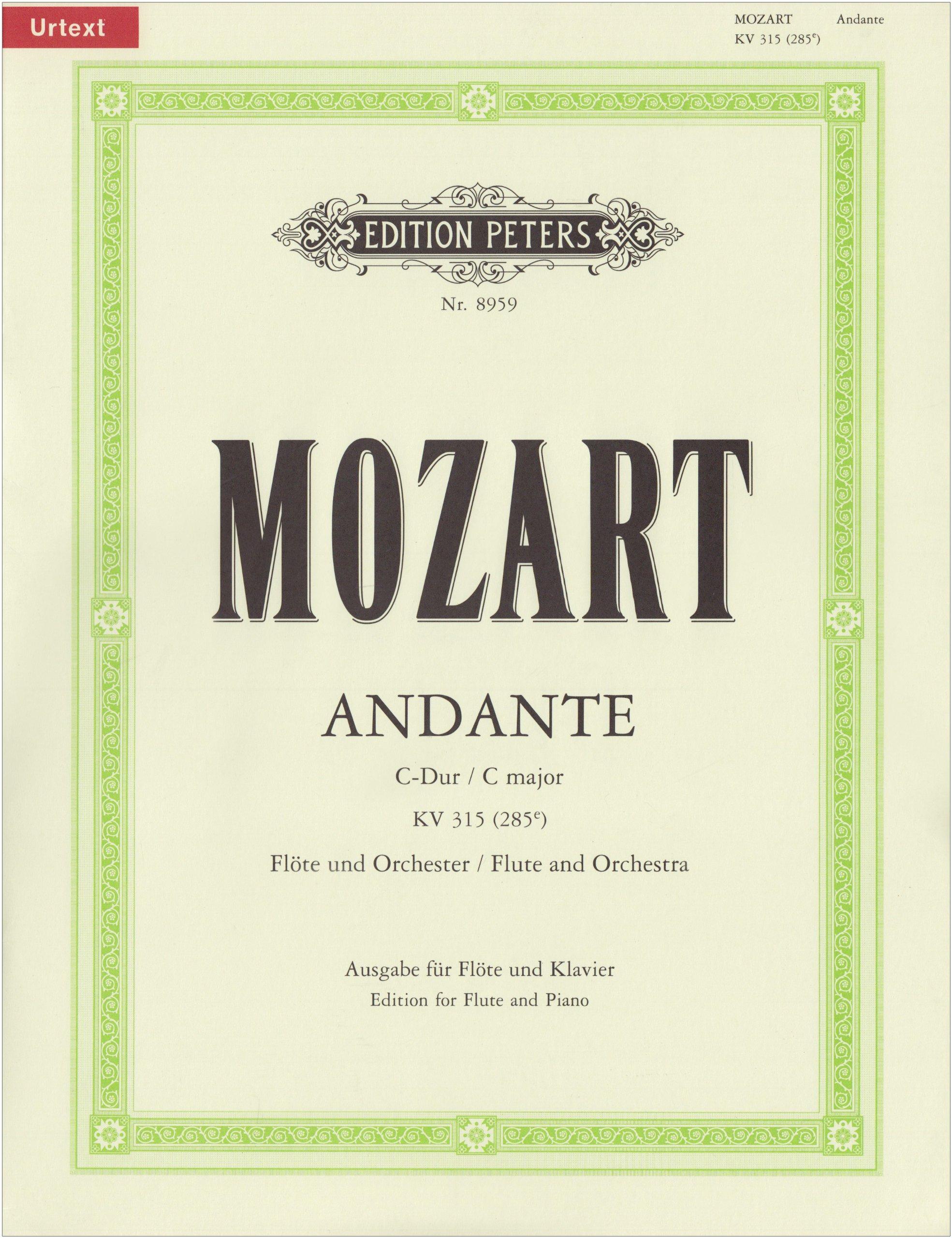 Andante C-Dur KV 315 (285e). Flöte, Klavier