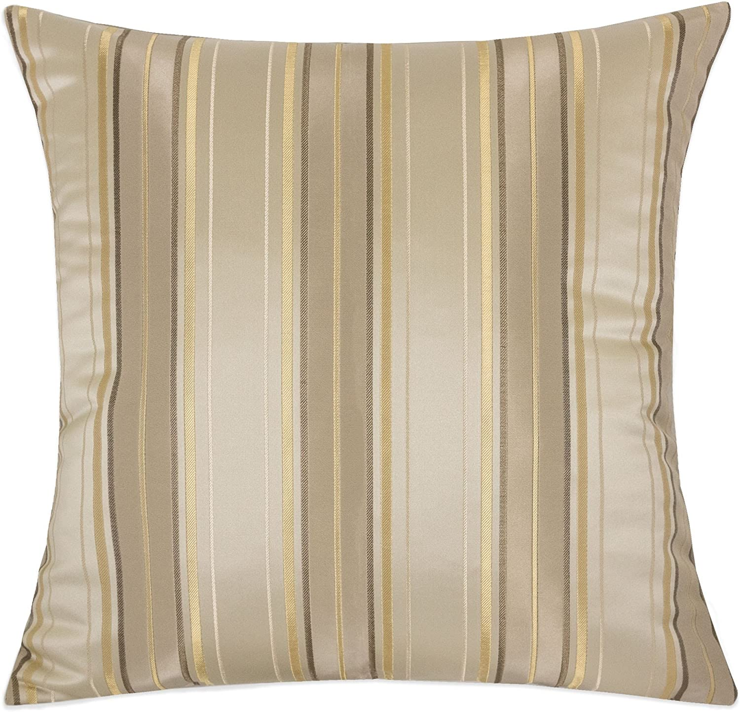 Amazon Com Homey Cozy Satin Throw Pillow Cover Silk Maze Series Gold Striped Large Sofa Couch Cushion Decorative Pillow Case 20 X 20 Inch Cover Only Home Kitchen