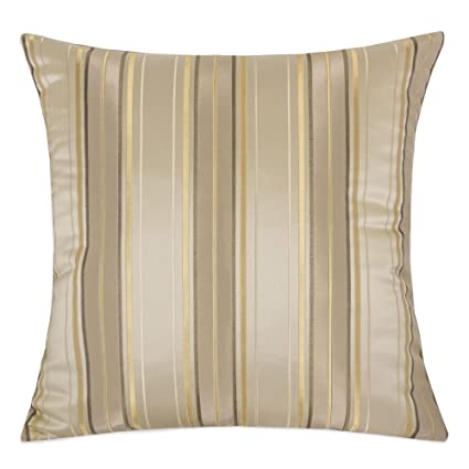 Prime Homey Cozy Satin Throw Pillow Cover Silk Maze Series Gold Striped Large Sofa Couch Cushion Decorative Pillow Case 20 X 20 Inch Cover Only Gmtry Best Dining Table And Chair Ideas Images Gmtryco