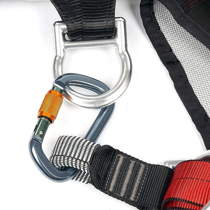 AiCheaX Arnés de escalada Cinturón para rescate de incendios ...