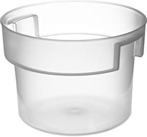 Carlisle 120530 BPA-Free Bains Marie Round Storage Container, 12 Quart, Clear